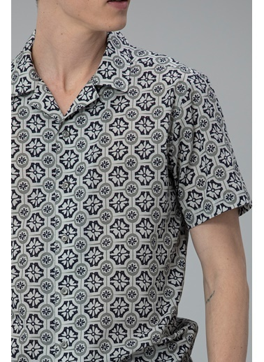 Lufian Hang Spor Gömlek Comfort Slim Fit  Gri